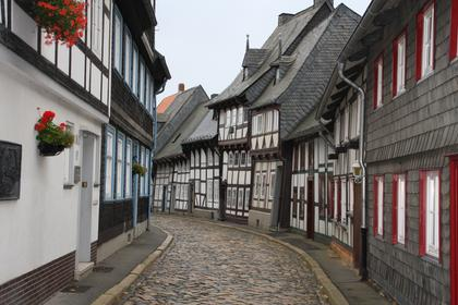 Carved half-timbered houses