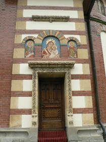 Monastère de Sinaia (porte de l'église du monastère))