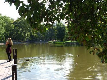 Budapest - City Wood - pond adjacent Vajdahunyad castle