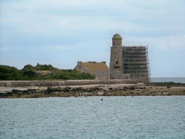 Île de Tatihou vue depuis Saint-Vaast