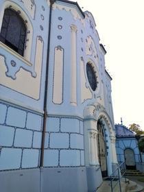 Blaue Kirche oder Marshmallow-Kirche
