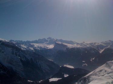 panorama d'la chaîne du mont-blanc du haut de ts de chamoissieres