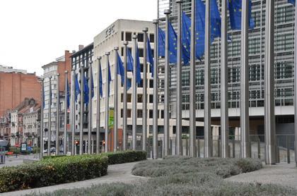 Bruxelles Brussels : batiment Berlaymont de l'Union Européenne