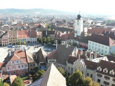 La Petite Place (photo prise du clocher de l'église évangélique Ste-Marie)