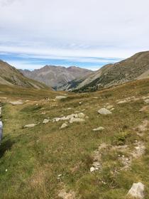 vue du sommet du col de la Cayolle