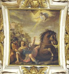 Plafond XVIIe d'une chapelle de l'Oratoire du Louvre : La conversion de Saint Paul