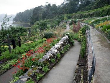 Inverewe gardens dans la grisaille d'août