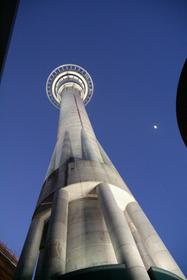 Sky Tower and the moon ( by fish )