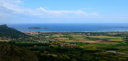 Medes Islands from Castell Montgri