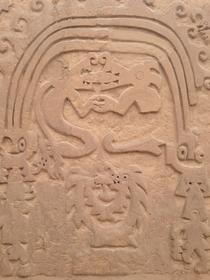 Détail motif huaca del dragon