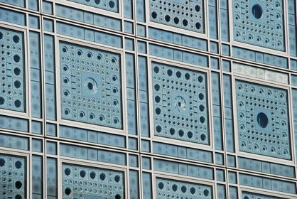 Institut du Monde Arabe : détail de la façade