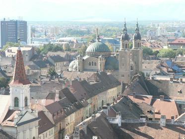 la cathédrale (vue à partir du clocher de la Cathédrale Évangélique)