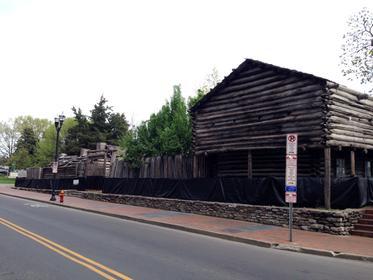 fort fermé en reconstruction