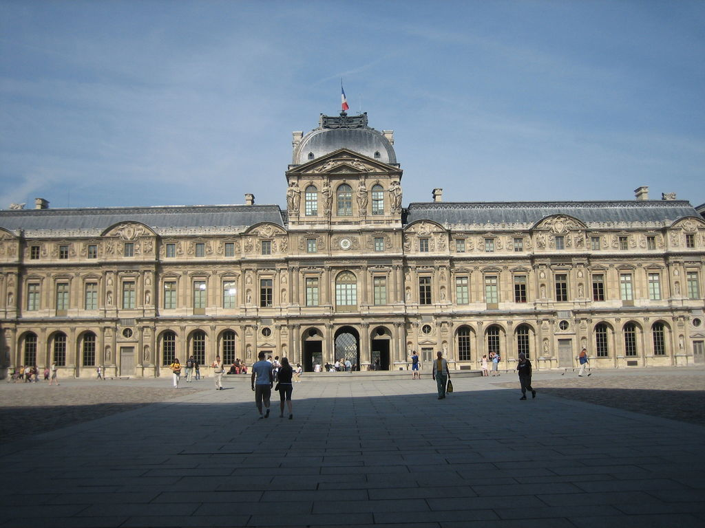 louvre courtyard cour carr e paris tourism viamichelin. Black Bedroom Furniture Sets. Home Design Ideas
